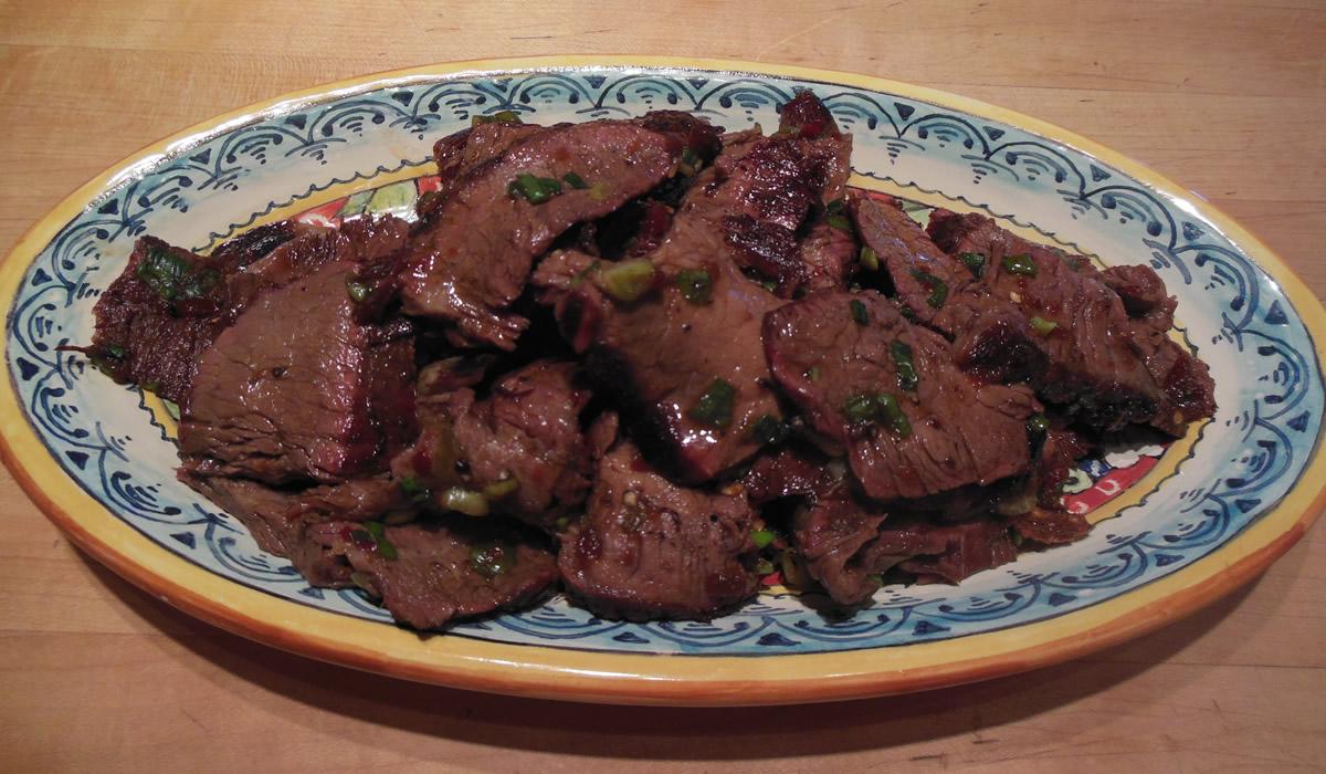 Oriental Flank Steak with Spicy Garlic Sauce