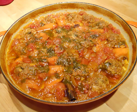 Moroccan Beef Meatball Tagine