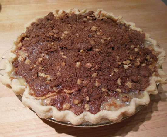 Sour Cream Apple Pie With Streusel Topping Recipe — Dishmaps