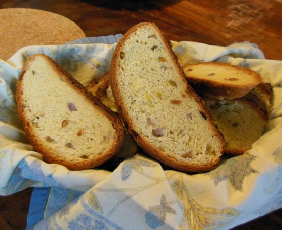 Onion Pistachio Bread
