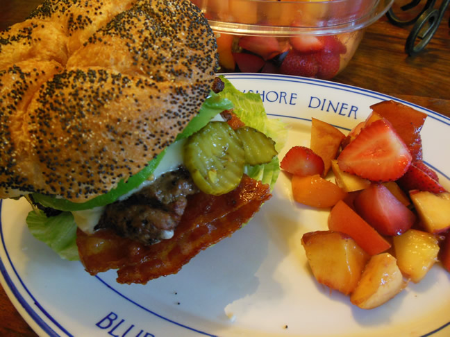 Birthday Burgers & Gifts in the Mail