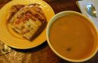 Pumpkin Soup and Panini