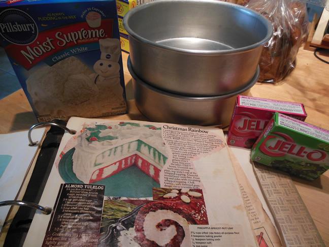 Christmas Jello Cake