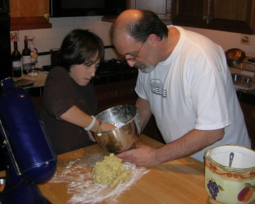 Victor and Gino making Nonna's Biscotti