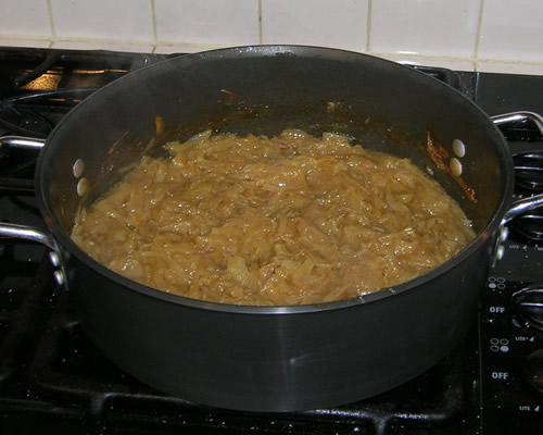 Onions caramalizing