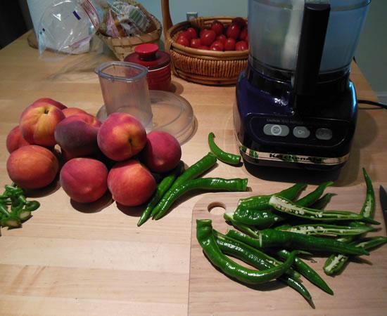 Peach pepper Jam tjrecipes.com Tim and Victor's Totally Joyous Recipes