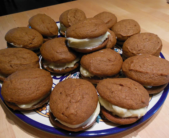 Pumpkin Whoopie Pies Tim and Victor's Totally Joyous Recipes https://tjrecipes.com