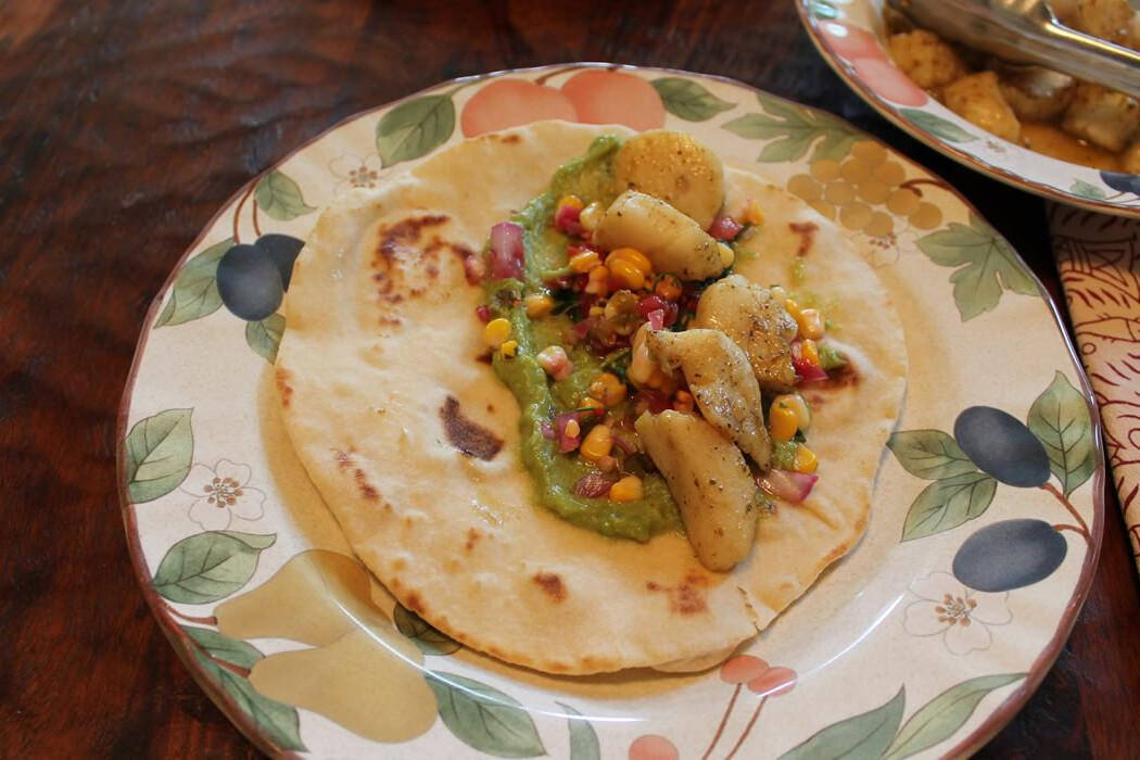 scallop tortillas