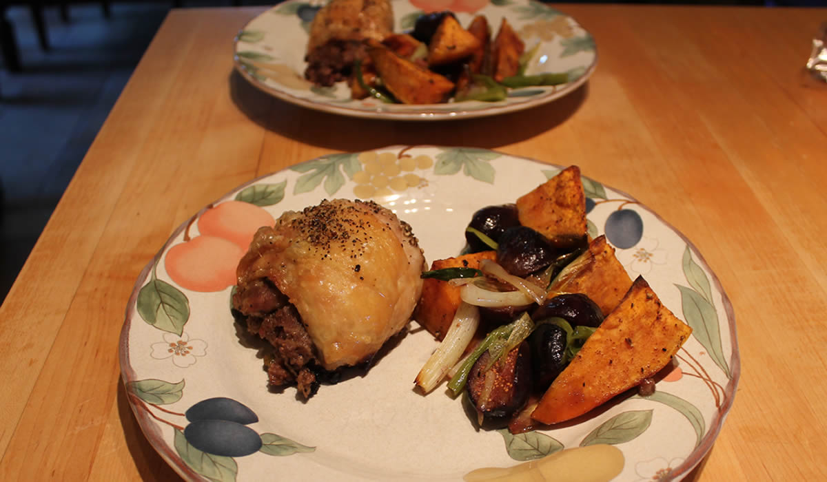 Figs, Chicken, and Sweet Potatoes