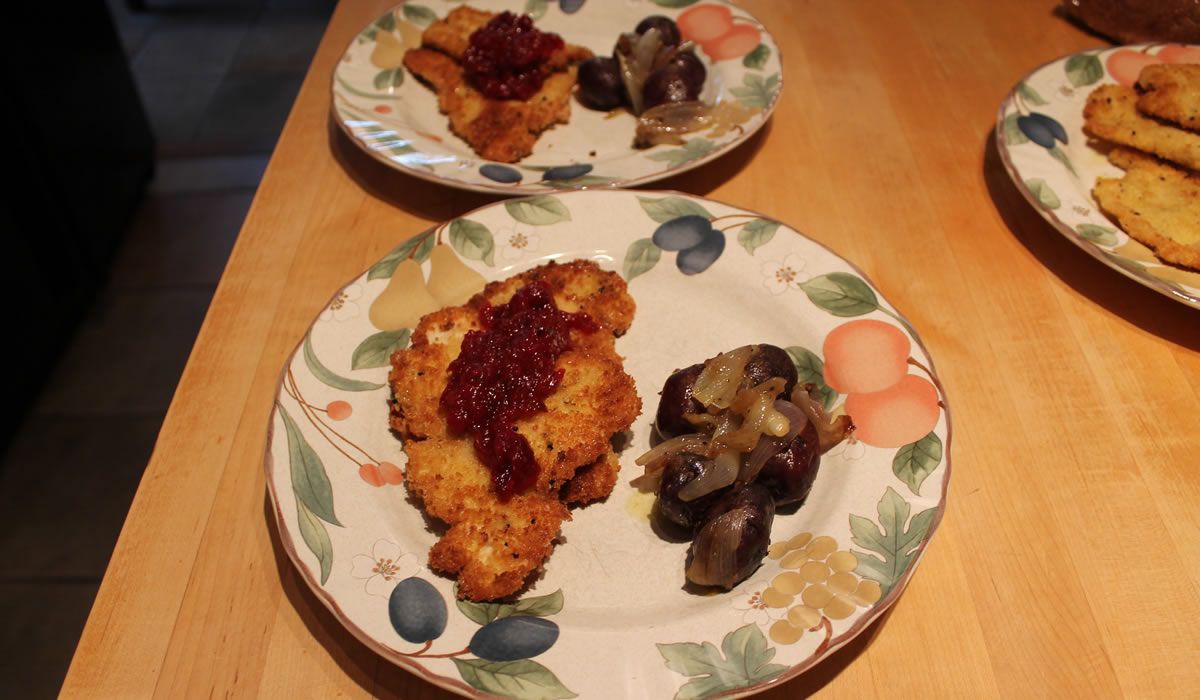 Turkey Cutlets with Cranberry Pepper Jam