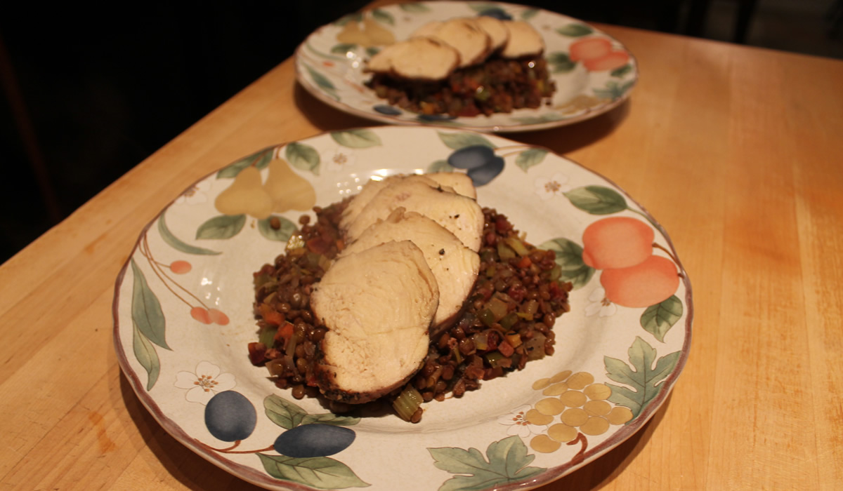 Lentils and Chicken