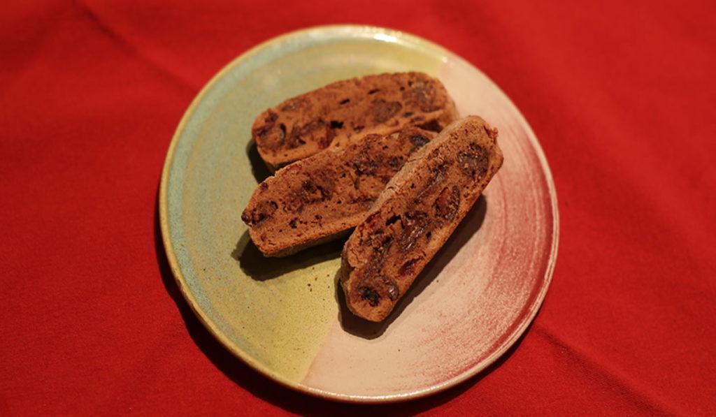 Chocolate Amarena Cherry Biscotti