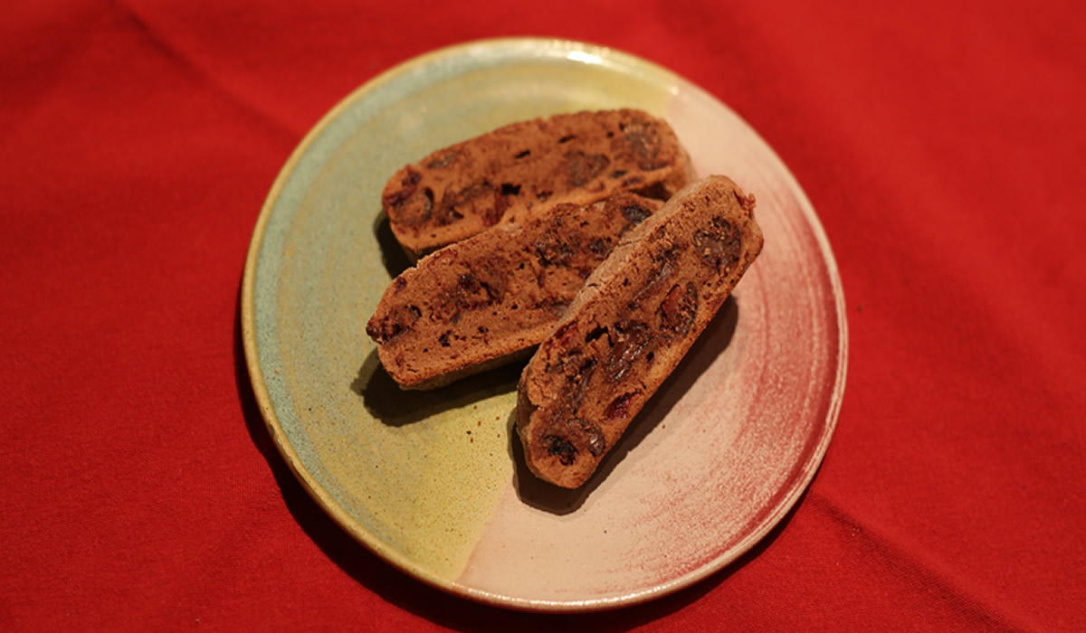 Chocolate Amarena Cherry Biscotti