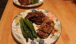 Roast Beef and Hasselback Potatoes