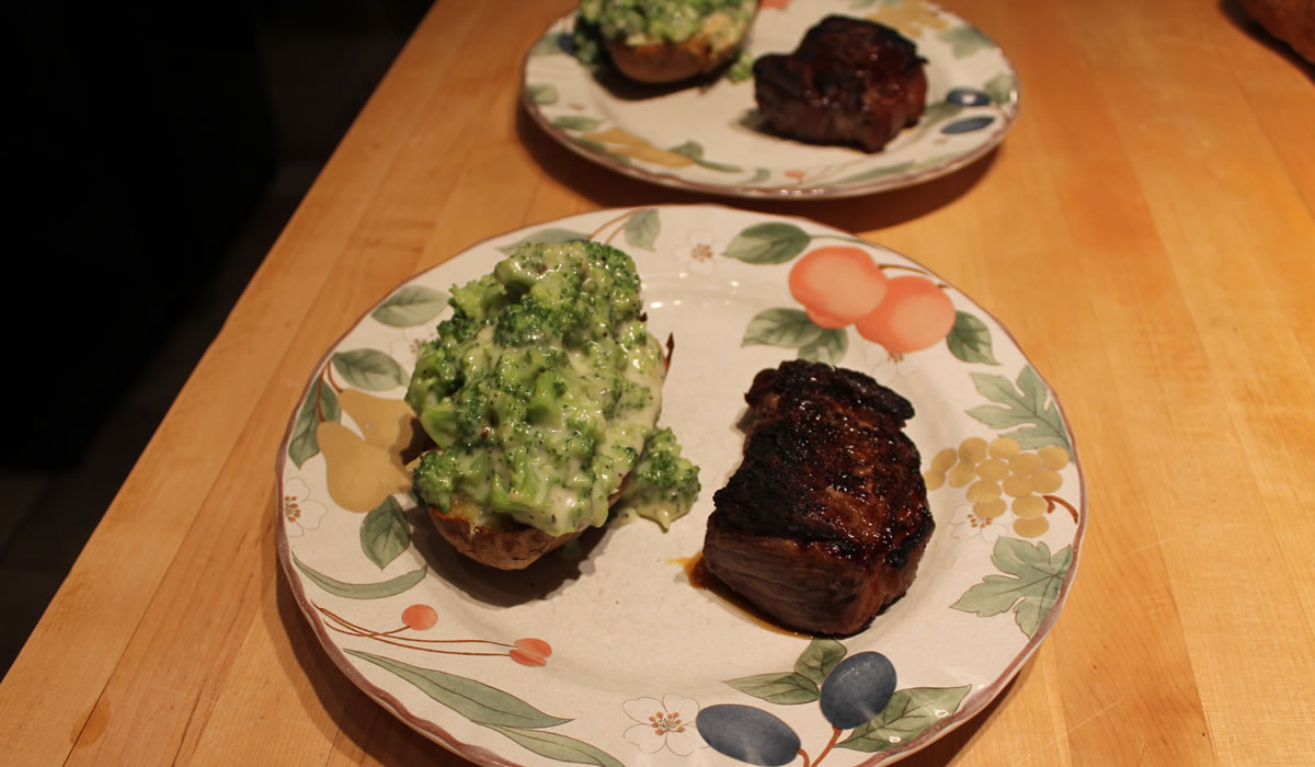 Steaks and Baked Potatoes
