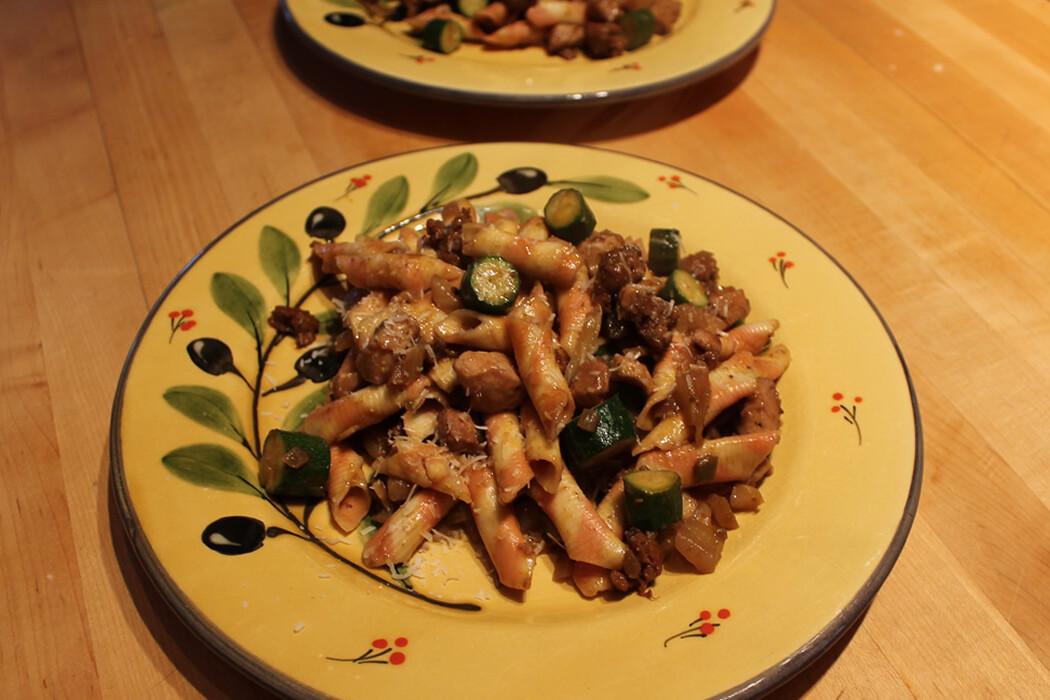 Chicken and Chorizo with Pasta