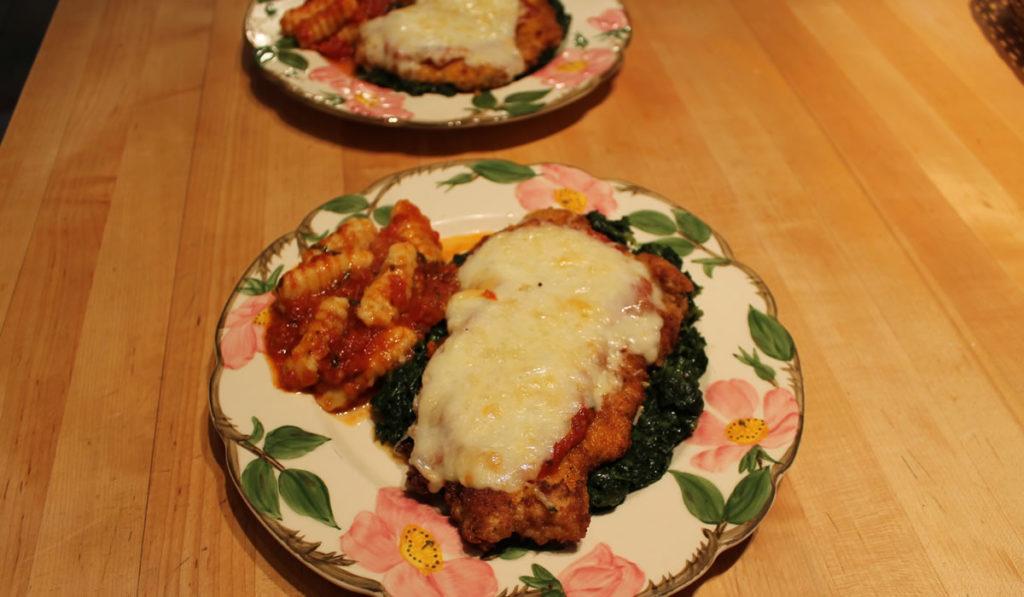 Chicken Parmesan Florentine