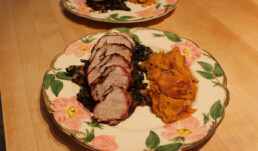 Pork and beet Greens