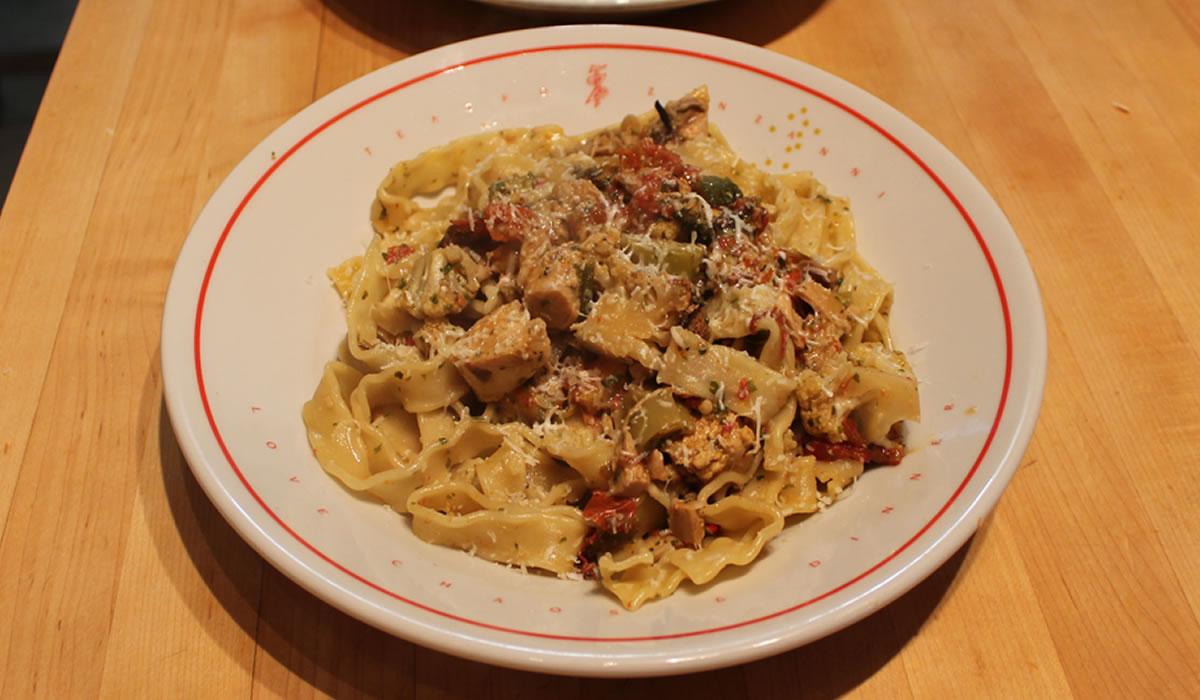 Pesto Chicken and Pasta